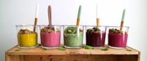 smoothies i olika färger